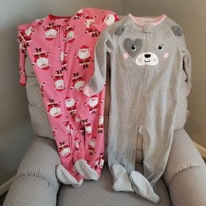 Two Carters footed PJs